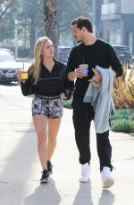 CASSIE SCERBO Out for Coffee in Los Angeles 02/11/2021