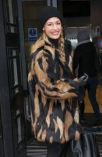 CAT DEELEY Arrives at BBC Radio 2 in London 0202/2021