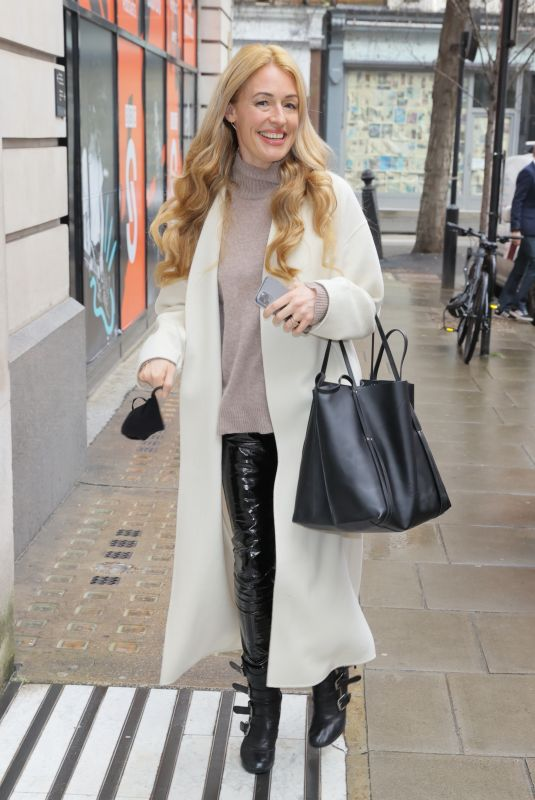CAT DEELEY Arrives at Steve Wright Afternoon Show in London 02/03/2021