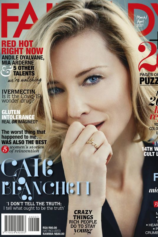 CATE BLANCHETT in Fairlady Magazine, March 2021