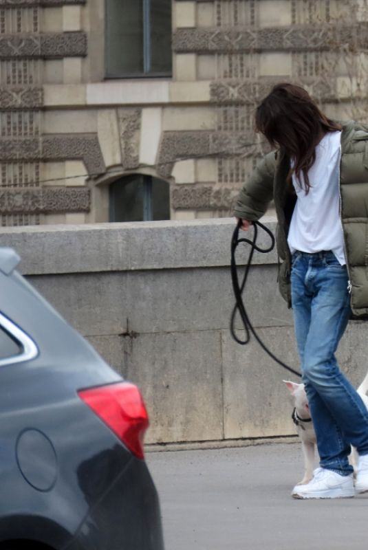 CHARLOTTE GAINSBOURG Out with Her Dog in Paris 02/03/2021