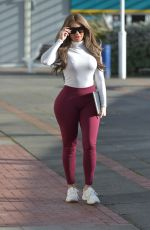CHLOE FERRY at Her Shop in Newcastle 02/25/2021