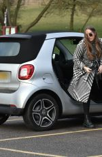 CHLOE ROSS Out in Her Electric Smart in Chigwell 02/18/2021
