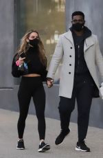 CHRISHELL STAUSE and Keo Motsepe Out in West Hollywood 02/18/2021