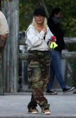 CHRISTINA AGUILERA at Everglades Alligator Farm in Florida 02/13/2021