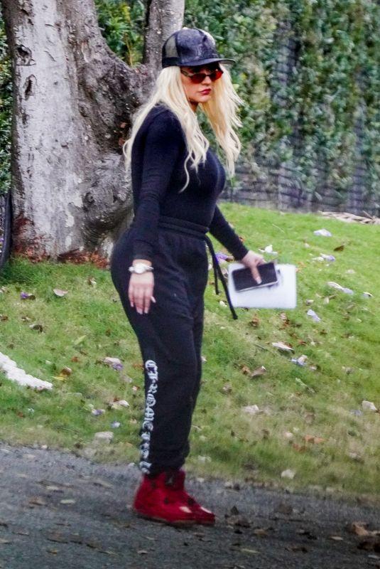 CHRISTINA AGUILERA Heading to a Recording Studio in Miami 02/15/2021