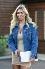 CHRISTINE MCGUINNESS Leaves a Photoshoot at Merrydale Manor in Knutsford 02/01/2021