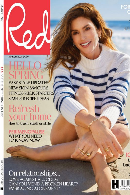 CINDY CRAWFORD in Red Magazine, UK March 2021