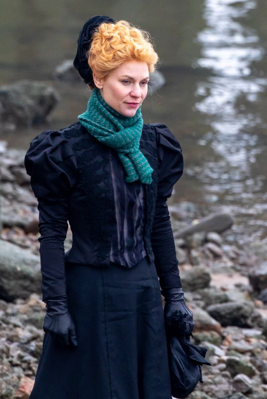 CLAIRE DANES on the Set of The Essex Serpent in London 02/22/2021