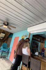 CLARE CRAWLEY at a Bar in Florida 02/16/2021