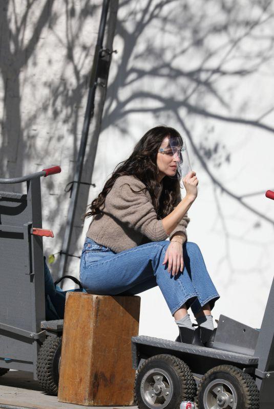 DAKOTA JOHNSON on the Set of Am I Ok in Los Angeles 02/02/2021