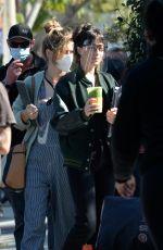 DAKOTA JOHNSON on the Set of Am I Ok in Los Angeles 02/03/2021