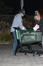 DENISE RICHARDS and Aaron Phypers Shopping at Whole Foods in Malibu 02/04/2021
