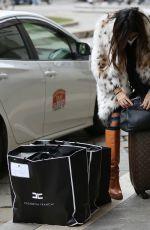 ELISABETTA GREGORACI Leaves Her Hotel in Milan 01/31/2021