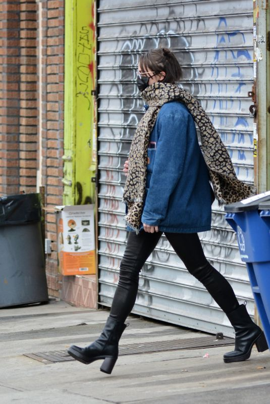 ELLA EMGOFF Out in New York 02/20/2021