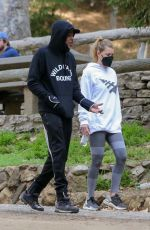 ELLEN POMPEO and Chris Ivery Out Hiking at Griffith Park in Los Feliz 02/16/2021