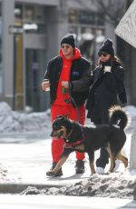 EMILY RATAJKOWSKI and Sebastian Bear-McClard Out with Their Dog in New York 02/20/2021