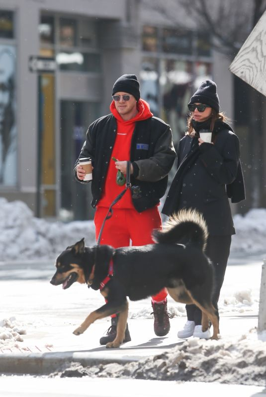 EMILY RATAJKOWSKI and Sebastian Bear-McClard Out with Their Dog in New York 02/20/2021