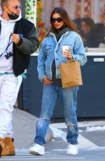 EMILY RATAJKOWSKI in Double Denim Out for Coffee in New York 02/22/2021