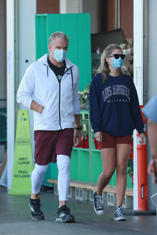 EMMA KROKDAL and Dolph Lundgren Shopping at Whole Foods in West Hollywood 02/18/2021