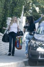EMMA ROBERTS Heading to a Photoshoot in Los Angeles 02/26/2021