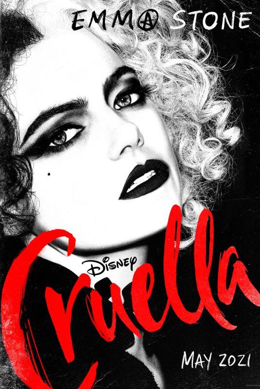 EMMA STONE – Cruella Poster 2021