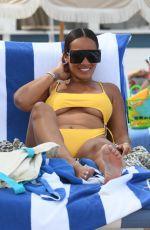 EVELYN LOZADA in Bikini at a Beach in Miami 01/31/2021