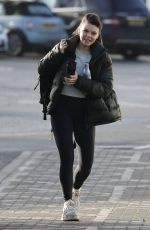 FAYE BROOKE Leaves Dancing On Ice Rehersal in London 02/05/2021