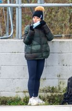 FAYE BROOKES at Dancing On Ice Training in Manchester 02/09/2021