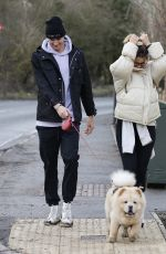 FERNE MCCANN and Jack Padgett Out with Their Dog in Essex 02/15/2021