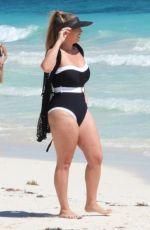 FRANKIE ESSEX in Swimsuit at a Beach in Tulum 02/05/2021