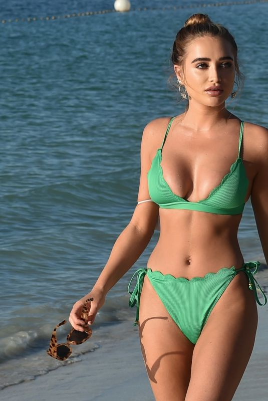 GEORGIA HARRISON in Bikini at a Beach in Dubai 02/10/2021