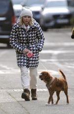 GEORGIA TOFFOLO Out with Her Dog in London 02/10/2021