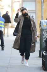GEORGINA BURKE Out with Her Dog in New York 02/24/2021