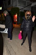 GOLDIE HAWN and Kurt Russell Celebrate 38 Years Together in Santa Monica 02/16/2021