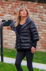 GOLDIE HAWN and Kurt Russell Out with Their Dog in Brentwood 02/15/2021