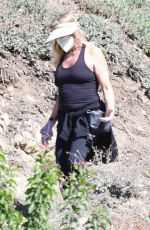 GOLDIE HAWN Out Hiking in Brentwood 02/17/2021