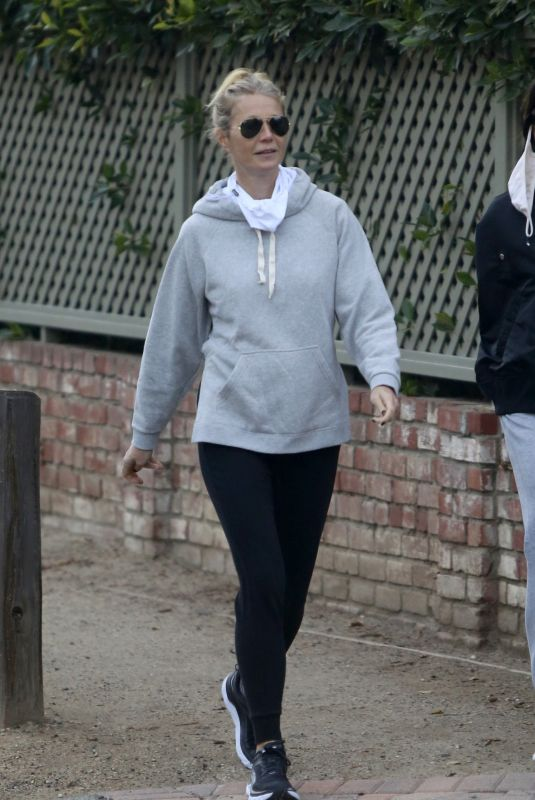 GWYNETH PALTROW Out with a Friend in Brentwood 02/02/2021