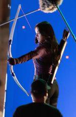 HAILEE STEINFELD on the Set of Hawkeye in Atlanta 02/10/2021