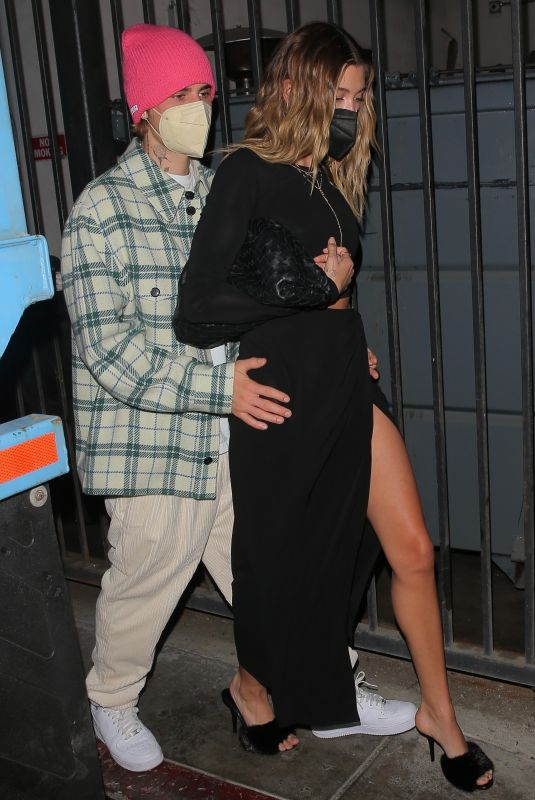 HAILEY and Justin BIEBER at Catch LA in West Hollywood 02/26/2021