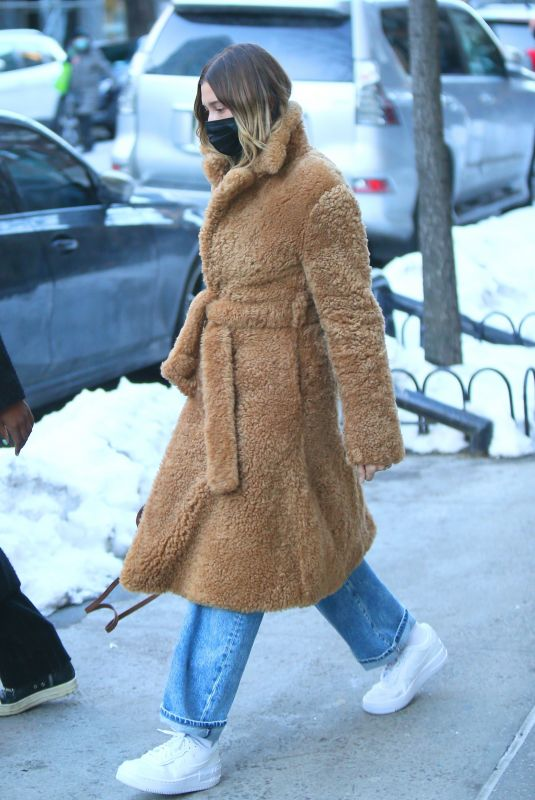 HAILEY BIEBER Out and About in New York 02/21/2021