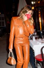 HAILEY BIEBER Out for Dinner at Carbone in New York 02/21/2021