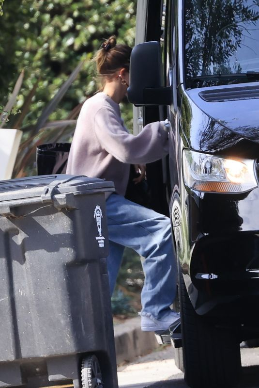 HAILEY BIEBER Out on Valentine's Day in Los Angeles 02/14/2021