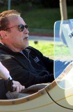 HEATHER MILLIGAN and Arnold Schwarzenegger Out Cruising in Santa Monica 02/13/2021