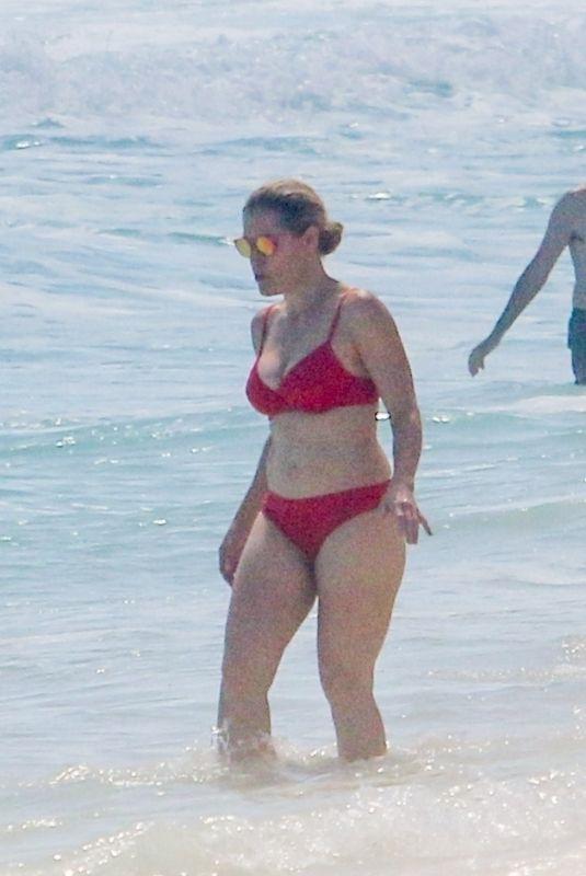 HEIDI CRUZ in a Red Bikini at a Beach in Cancun 02/19/2021