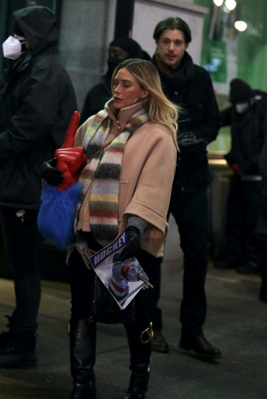 HILARY DUFF Kissing on the Set of Younger in New York 02/12/2021