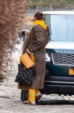 IRINA SHAYK Getting a Ride with Vito Schnabel in New York 02/26/2021