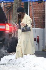 IRINA SHAYK Leaves Her Apartment in New York 02/19/2021