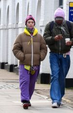 IRIS LAW and Jyrrel Roberts Out in London 02/12/2021