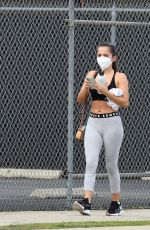 ISABELA MERCED in Tights Leaves a Gym in Los Angeles 02/09/2021